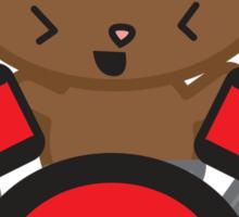 Kawaii Drummer Cat Sticker