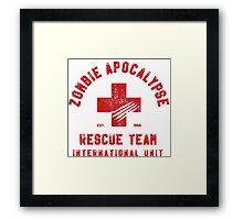 Zombie Apocalypse Rescue Team Framed Print