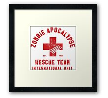 Zombie Apocalypse Rescue Team Framed Print