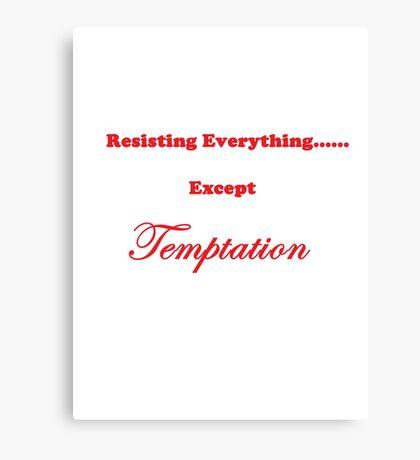 Except Temptation Canvas Print