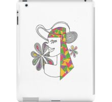Girl and Hat iPad Case/Skin
