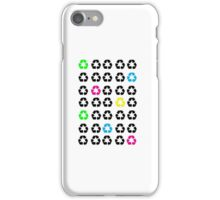 Neon Recycle Symbols iPhone Case/Skin