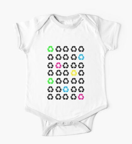 Neon Recycle Symbols Kids Clothes