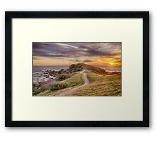 The Sunrise Path Framed Print