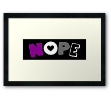 Nope (Asexual) Framed Print