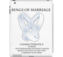 Rings of marriage iPad Case/Skin