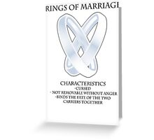 Rings of marriage Greeting Card