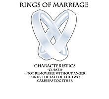 Rings of marriage Photographic Print
