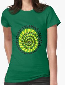 Spiked Striped Spiral (green) T-shirt Womens Fitted T-Shirt