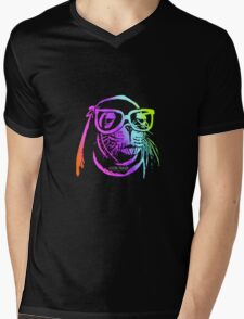 Cool Rainbow Sealion in Glasses Mens V-Neck T-Shirt
