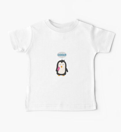 Penguin with popsicles   Baby Tee