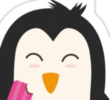 Penguin with popsicles   Sticker
