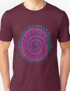 Spiked Striped Spiral (purple) T-shirt T-Shirt