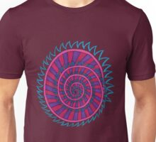 Spiked Striped Spiral (purple) T-shirt Unisex T-Shirt