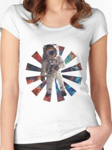 Astro Man Women's Fitted Scoop T-Shirt