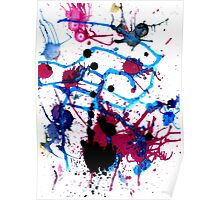Colorful Paint Drips 13 Poster