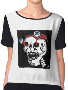 Skull and Eyes Chiffon Top