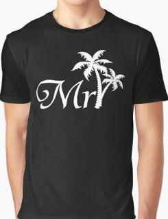 Mister Mr and Mrs Beach Wedding Honeymoon Matching Graphic T-Shirt