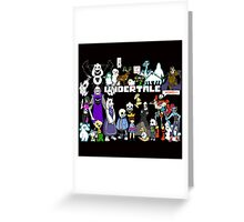 Undertale - Background Greeting Card