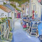 Down to Beckside, Staithes by Sue Nichol