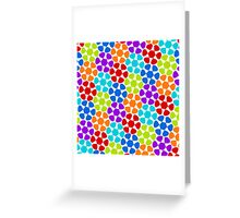 Multi-Colored Flower Pattern Greeting Card