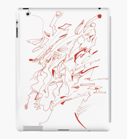 0306 - Red Head looking nowhere iPad Case/Skin