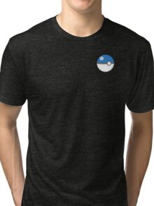 Pokeball Blue! Tri-blend T-Shirt