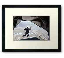 Skydiving jump from the plane Framed Print