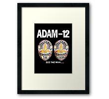 Adam-12 TV Series 70's Retro Framed Print