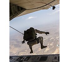 Skydiving jump from the airplane Photographic Print