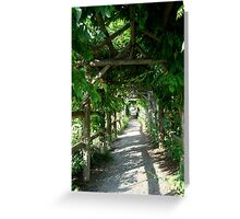 Walk Here With Me Greeting Card