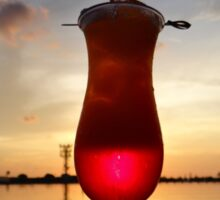 Balinese sunset with red drink Sticker