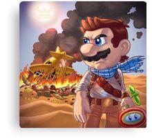 Mario X Uncharted 3 Canvas Print