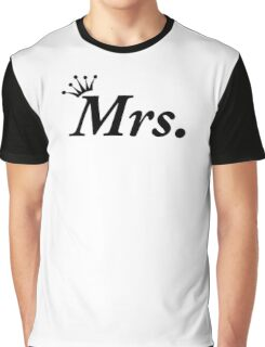 Honeymoon Newly Wed Mrs Wedding Tiara Bride Graphic T-Shirt