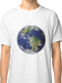 Pixelized Earth Classic T-Shirt
