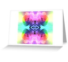 Psychedelic Rose Greeting Card