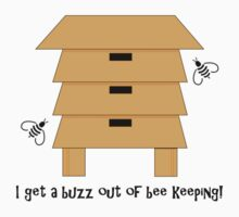 I Get A Buzz Out Of Bee Keeping Apiary Bees Design Kids Tee