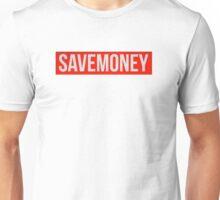 Save money logo vic mensa - 1 red and white Unisex T-Shirt