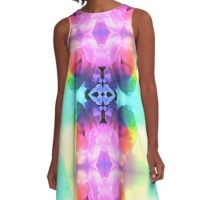 Psychedelic Rose A-Line Dress