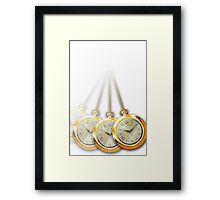 Hypnosis Swinging Watch - White Background Framed Print
