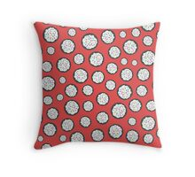 Chocolate Sugar Cookie Pattern On Red Throw Pillow