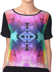 Psychedelic Rose Chiffon Top