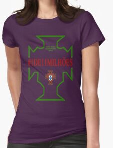 #1DE11MILHOES PORTUGAL EURO FINAL 2016 FRANCE Womens Fitted T-Shirt