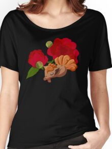 Vulpix with Peonies  Women's Relaxed Fit T-Shirt