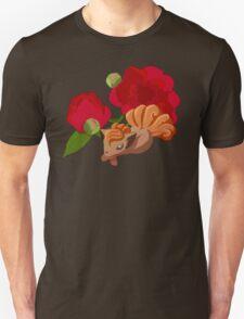 Vulpix with Peonies  Unisex T-Shirt