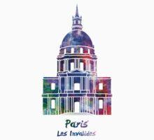 Paris Landmark Les Invalides in watercolor Baby Tee