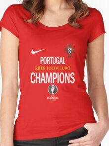 PORTUGAL Football Team 2 - campeones -CHAMPION - UEFA EURO 2016 Women's Fitted Scoop T-Shirt