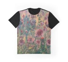 Oil Rose Graphic T-Shirt