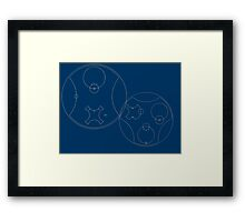 Trust me, I'm the Doctor | Circular Gallifreyan Framed Print