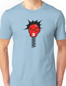 Comic Book Boxing Glove on Spring Pow Unisex T-Shirt